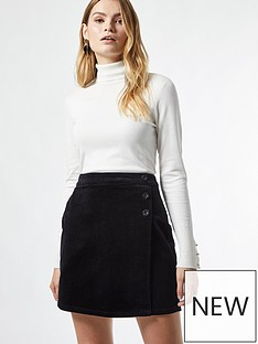 dorothy-perkins-wrap-cord-button-skirt-black
