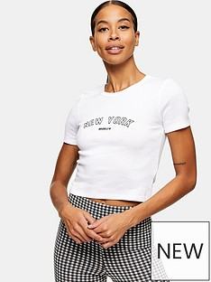 topshop-new-york-tee-white