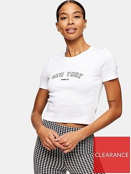 topshop-new-york-tee-white