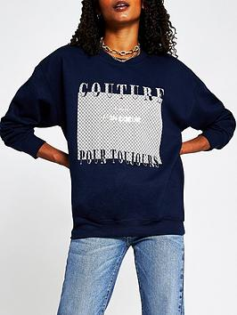 river-island-couture-monogram-jumper-navy