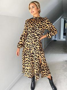 ax-paris-leopard-print-high-neck-midi-dress-print