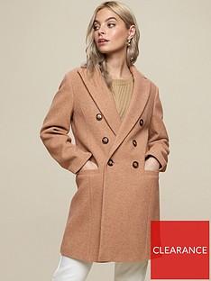 dorothy-perkins-petite-minimal-shawl-collarnbspcoat-camel