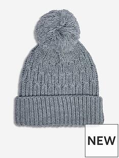 dorothy-perkins-chunky-knit-pom-pom-hat-grey