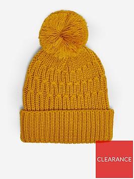 dorothy-perkins-chunky-knit-pom-pom-hat-yellow