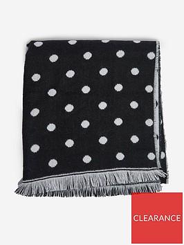 dorothy-perkins-double-sided-spot-scarf-blackgrey