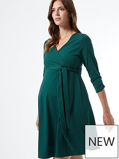 dorothy-perkins-maternitynbspwrap-stylenbspdress--nbspgreennbsp