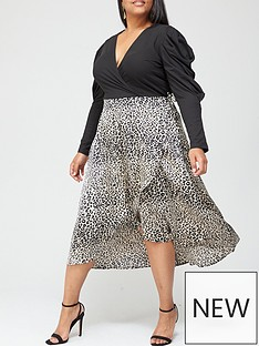ax-paris-curve-wrap-two-in-one-dress-black