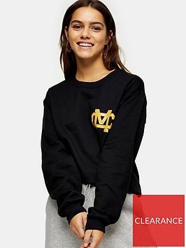 topshop-petitenbspmichigan-sweatshirt-black