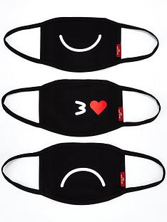 marc-jacobs-3-pack-smileynbspmask-covering--nbspblack
