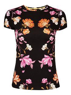 ted-baker-rhubarb-printednbspt-shirt-black