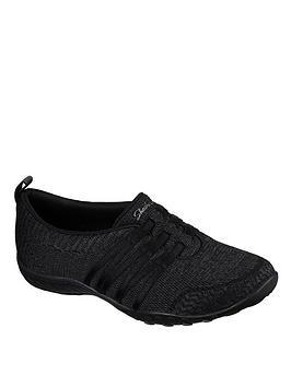 skechers-breathe-easy-scooped-soft-knit-slip-on-ballerina-blackcharcoalnbsp