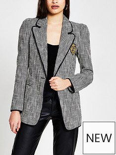 river-island-badge-detail-boucle-blazer-blackwhite