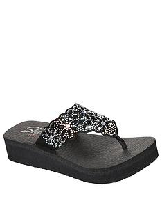 skechers-vinyasa-floral-laser-cut-rhinestone-flip-flop-black