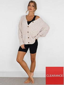 missguided-missguided-lounge-oversized-recycled-cardigan-cream