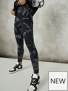 missguided-rib-legging-tie-dye