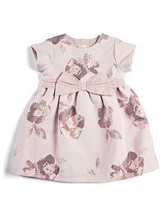 mamas-papas-baby-girls-jacquard-floral-dress-pink