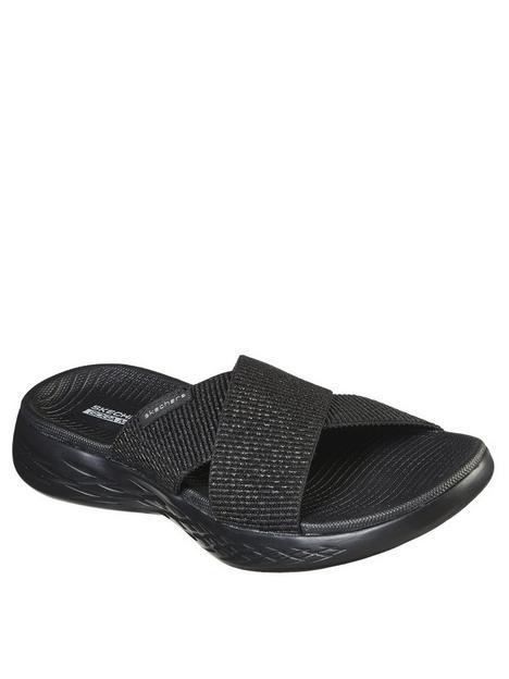 skechers-on-the-go-600-stretch-fit-metallic-gore-flat-sandal-blacknbsp