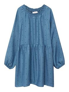 mango-girls-spotty-dress-blue