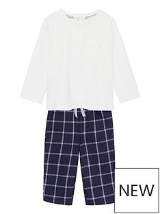 mango-baby-boys-checked-pyjamas-navy