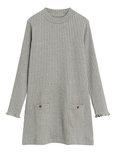 mango-girls-ribbed-knitted-dress-grey