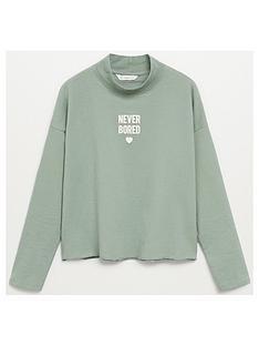 mango-teen-girls-never-bored-sweatshirt-green