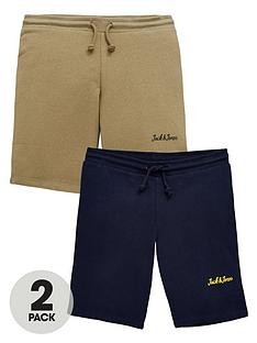 jack-jones-junior-boys-2-pack-sweat-shorts-navy-blazerdusty-olive