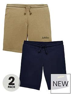 jack-jones-junior-boys-2-pack-sweat-shorts-navy-blazerdusty-olive