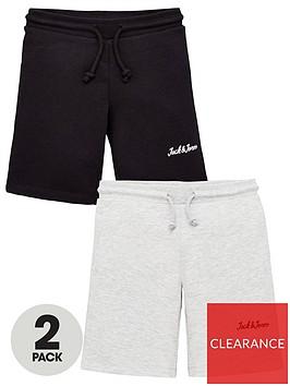 jack-jones-junior-boys-2-pack-sweat-shorts-blacklight-grey-marl