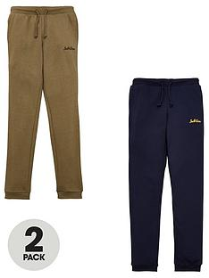 jack-jones-junior-boys-2-pack-logo-joggers-navy-blazerdusty-olive