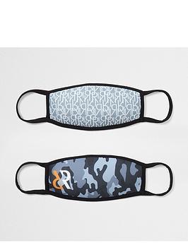 river-island-boys-2-pack-camo-face-coverings-multi
