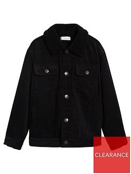 mango-boys-fleeced-collar-cordnbspjacket-black