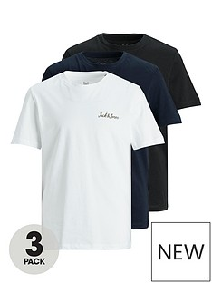 jack-jones-junior-boys-3-pack-logo-tshirts-multi