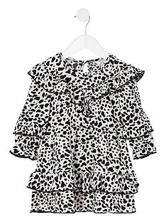 river-island-mini-mini-girls-leopard-frill-dress--nbspblack