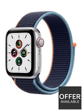 apple-watch-se-gps-cellular-40mm-silver-aluminium-case-with-deep-navy-sport-loop