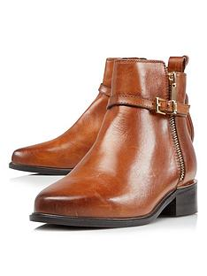 dune-london-pop-side-zip-ankle-boot-tan