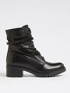 dune-london-primrose-chain-detail-leather-lace-up-ankle-boot--nbspblack