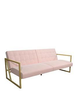 cosmoliving-by-cosmopolitan-lexington-modern-fabric-futon-sofa