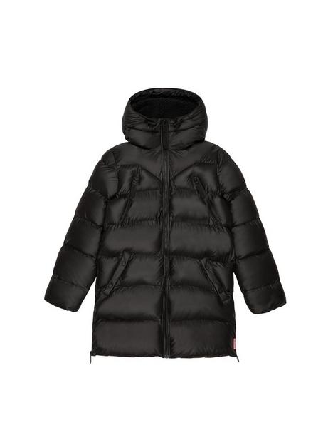 hunter-original-paddednbspcoat-black