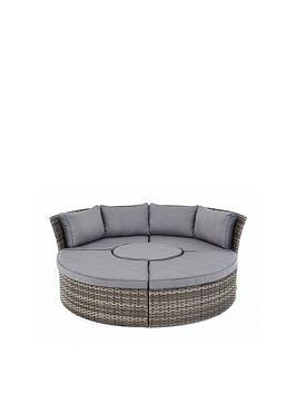 Aruba Compact Round Sofa Set  Day Bed