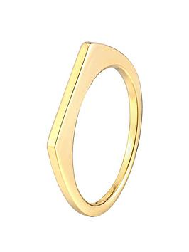 the-love-silver-collection-18ct-gold-plated-sterling-silver-thin-square-edge-stacking-ring