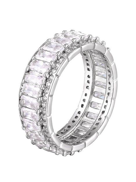 the-love-silver-collection-sterling-sliver-cubic-zirconia-baguette-stone-eternity-ring