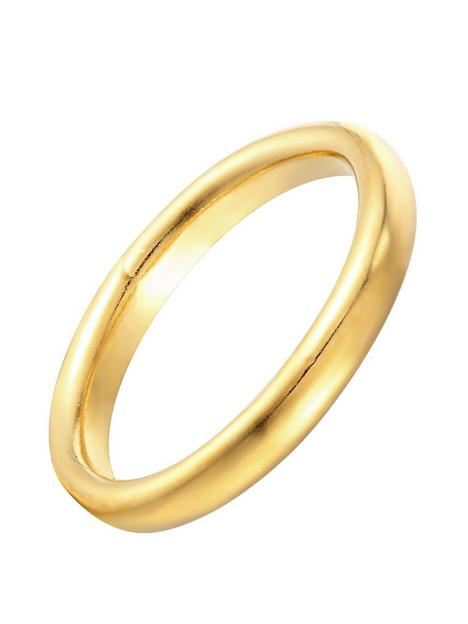 the-love-silver-collection-18ct-gold-plated-sterling-silver-medium-plain-band-ring