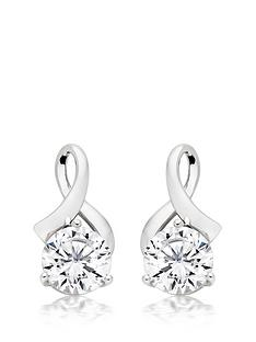 beaverbrooks-9ct-white-gold-cubic-zirconia-earrings