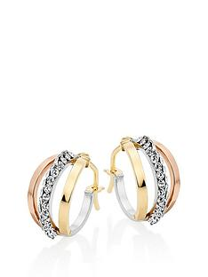 beaverbrooks-9ct-three-colour-gold-crystal-hoop-earrings