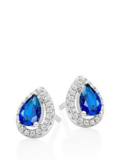 beaverbrooks-silver-blue-cubic-zirconia-pear-halo-earrings