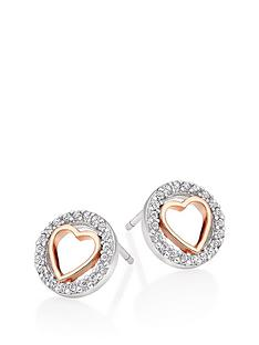 beaverbrooks-silver-and-rose-gold-plated-cubic-zirconia-heart-earrings