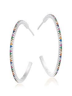 beaverbrooks-silver-cubic-zirconia-multicoloured-hoop-earrings