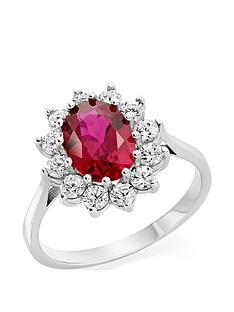 beaverbrooks-9ct-white-gold-red-cubic-zirconia-cluster-ring