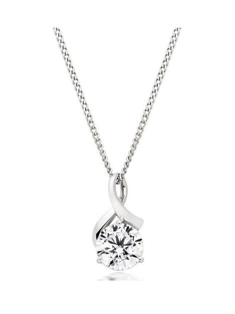 beaverbrooks-9ct-white-gold-cubic-zirconia-pendant