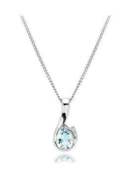 beaverbrooks-9ct-white-gold-diamond-aquamarine-pendant
